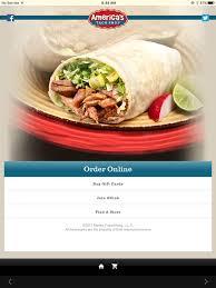 america s taco on the app