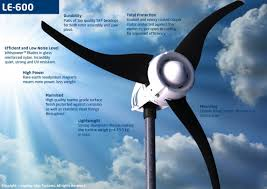 leading edge le 600 downwind domestic wind turbine
