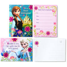 Frozen Birthday Invitations Hallmark Party Disney Frozen Invitations With Envelopes And Thank You Postcards