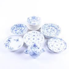 Patterned Dinnerware Impressive Vintage Blue Patterned Dinnerware Including Wedgwood And Meissen EBTH