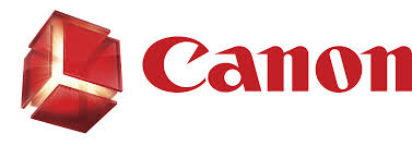 Canon Logo on black background - Designed By Fish