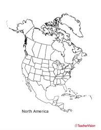 North And South America Blank Map Usa Map A4 Printable World Map Uncolored Map Of America