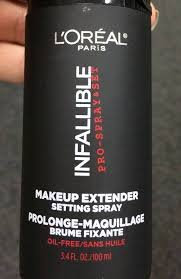 review 2 loreal infallible makeup extender setting spray 01
