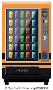Get Free Food From Vending Machine Inspiration Vending Machines With Soft Drinks Illustration