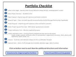 Research Portfolio Template Senior Project Portfolio Ppt Video Online Download