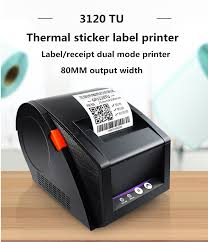 <b>New</b> 80mm thermal printer clothing price <b>bar code sticker</b> Qr self ...