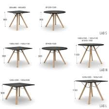 dimensions lab round table