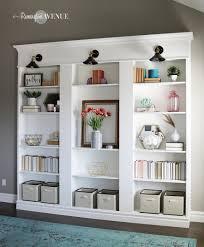 diy shelves, billy bookcase hack, Ikea hack, custom shelving, library wall