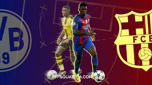 Image result for photos of dembele signs for barca