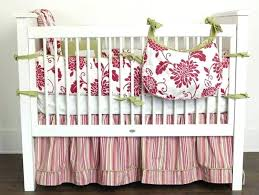 crib bedding in solid peach pink watercolor bows antique white springtime created