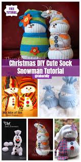 diffe ways to diy sock snowman tutorials