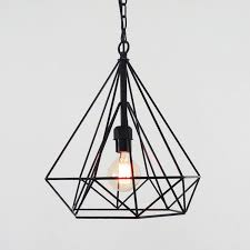 wire pendant lighting. details about geometric wire cage pendant light diamond ceiling lighting h