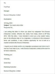 Two Weeks Notice Letter Templates