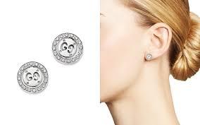 gucci earrings. gucci 18k white gold icon twirl stud earrings with diamonds - bloomingdale\u0027s_2