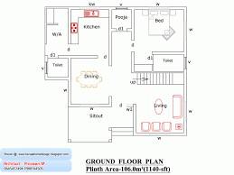 floor house plan 1000 sq ft kerala home design and foot plans