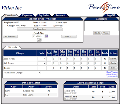 Powertime Employee Timesheet Tracking Software