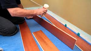 lay floating engineered flooring