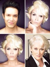 guy uses makeup to transform himself into female hollywood transformations makeup to look like celebrity the best
