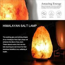 14 x 10cm natural himalayan ionic air purifier rock crystal salt lamp table night light
