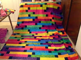 41 best 1600 Jelly Roll Race images on Pinterest | Bedspreads ... & Quilter - Jelly Roll Race Quilt with squares sewn between strips. Adamdwight.com