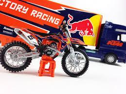 ryan dungey ktm factory racing red bull motocross race truck 1 18 bike bo