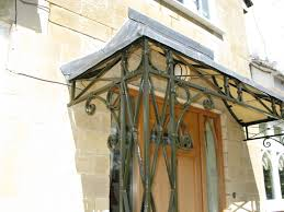scroll detail wrought iron porch by ironart of bath