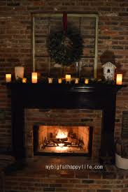 Christmas Fireplace Fire Holiday Festive Decorations T Wallpaper ...