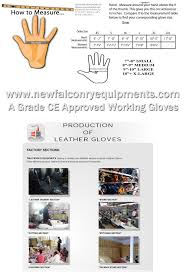 Five Gloves Size Chart Size Guide Production Of Leather Gloves Falconry