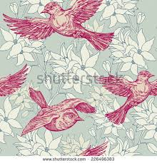 vintage bird iphone wallpaper. Unique Vintage Vintage Summer Background Birds Flowers Fashion Seamless Pattern  Colorful Creative Wallpaper On Bird Iphone Wallpaper S