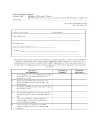 Restaurant Employee Performance Review Manager Evaluation Template