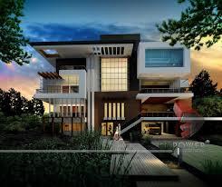 Modern Home Design House D Interior Exterior Rendering Single - Interior and exterior design of house