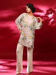 Pakistani Silk Kurtis Designs Sobia Nazir Satin Silk Kurti Silk Kurti Silk Satin