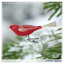 Christbaumschmuck Roter Vogel