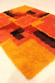 small orange throw rugs chevron blanket area rug mid century rya carpet texture wool carpets