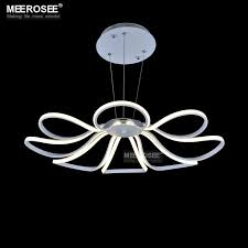 modern led chandelier light white acrylic flower hanging drop lamp for dining room led lamparas res lighting for home hanging light shades bedroom