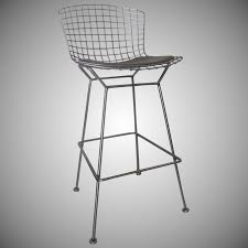 vintage tall wire bertoia bar chair by knoll