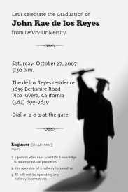 Graduation Party Invitation Templates Free Word Formatted