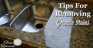 remove grease stain from granite countertop with acetone poultice