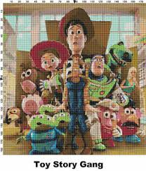 Details About Toy Story Characters Counted Cross Stitch Patterns