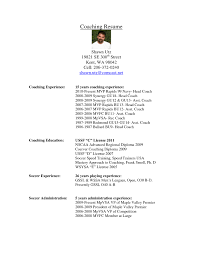 soccer coach resume template free resume templates