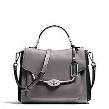 The Madison Spectator Small Sadie Flap Satchel In Violet Saffiano Leather  from Coach