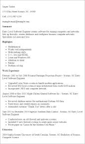 general engineer resume professional entry level software engineer templates to showcase