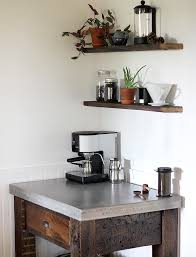 diy concrete top coffee bar the