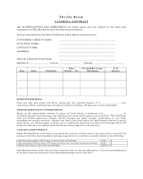 Catering Contract Samples 2019 Catering Contract Template Fillable Printable Pdf