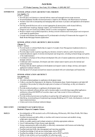 Senior Application Architect Resume Samples Velvet Jobs