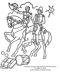 Small Picture Battle of New Orleans Coloring Page War of 1812 for Kids