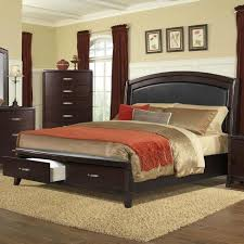 Delaney Queen Low Profile Bed with Storage Footboard by Elements International at John V Schultz Furniture