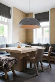 breakfast banquette furniture. Oversized Pendant In Gray For The Lovely Banquette Dining [Design: Baden Interior / Breakfast Furniture N