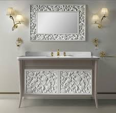 Fancy Bathroom Vanity Mirrors Home Decor White For Design Grey And