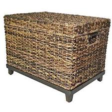 wicker storage chest. Unique Wicker Brown Wicker Storage Trunk  Coffee Table By Threshold In Chest E